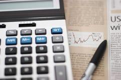 图表市场笔股票 免版税库存图片