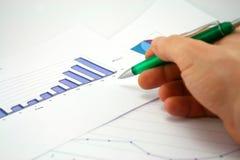 图表投影 免版税库存图片