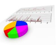 图表报告代表公司的数据和展望 库存照片