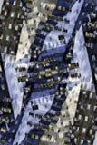 图表抽象城市的大厦 免版税图库摄影