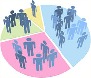 图表数据人饼人口统计 免版税图库摄影