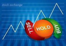 图表替换股票 库存例证