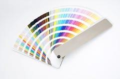 图表查出的颜色指南 免版税库存图片