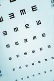 图表检查眼睛 免版税图库摄影