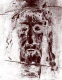 图表由耶稣基督启发了从都灵寿衣面对 免版税图库摄影