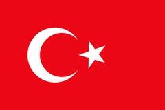 图表的土耳其旗子 库存例证