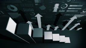 图表的坚实几何对象 长方形长条图Infographics圈动画 图和图表 o 向量例证