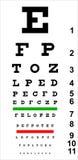 图表眼睛 免版税库存照片