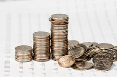 图表硬币崩溃 免版税库存图片