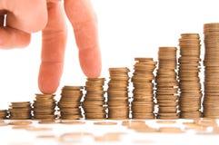 图表硬币 免版税库存图片