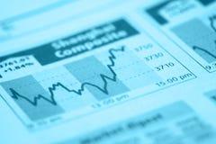 图表笔股票 免版税图库摄影