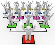 图表组织召集的队伍 库存图片
