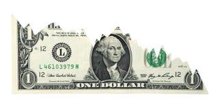 图表美元落 库存照片