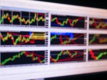 图表股票迷离 免版税库存图片