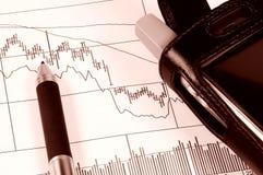 图表股票 免版税库存图片