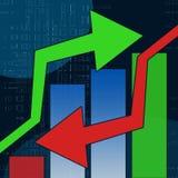 图表股票 向量例证
