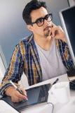 年轻图表设计师 免版税图库摄影