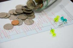 图表财务事务 库存照片
