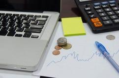 图表财务事务 免版税库存图片