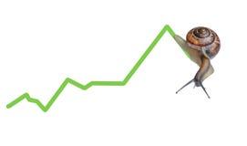图表货币蜗牛 图库摄影
