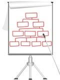 图表轻碰介绍三脚架 向量例证