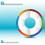 图表进程通知轮子 免版税图库摄影