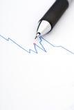 图表铅笔股票 免版税库存照片