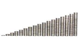 图表铸造增长做的银色成功 免版税图库摄影