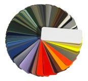 图表颜色充分分布 免版税库存照片