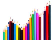 图表颜色铅笔 免版税库存图片