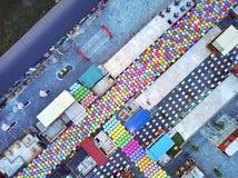 图表鸟瞰图夜市场亚洲 库存照片
