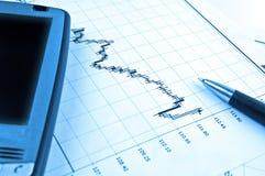 图表pda笔股票 免版税库存照片