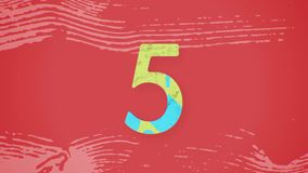图解五颜六色的读秒平的动画 皇族释放例证