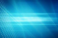 图解抽象技术背景,在蓝色后面的光线 免版税库存照片