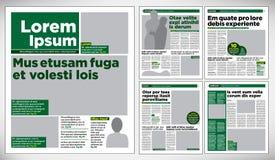 图解设计报纸 免版税库存图片