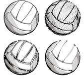 图象向量排球排球 免版税库存照片