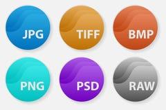 图象文件类型格式化标签象集合 库存照片
