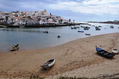 Ferragudo,阿尔加威,葡萄牙,欧洲 免版税库存照片