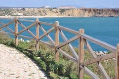 阿尔加威, Sagres,葡萄牙,欧洲海岸  免版税图库摄影