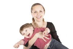图象母亲儿子 免版税库存图片