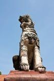 图象狮子雕象 免版税库存照片