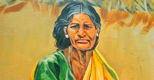 图象的绘在墙壁上在金奈,印度 库存照片