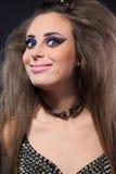 图象的Rockstar女孩 胸罩刺 免版税库存图片