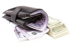 图象货币钱包 免版税库存图片