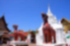 图象迷离Wat Phra骇黎朋猜,南奔府, Thail 库存照片