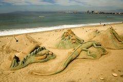 图铺沙雕刻 库存照片