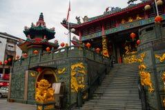 图阿Pek孔中国人寺庙 民都鲁市,婆罗洲,沙捞越,马来西亚 免版税库存图片