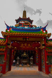 图阿Pek孔寺庙四埔市,沙捞越,马来西亚,婆罗洲的美丽的中国寺庙 图库摄影