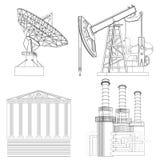 图画产业:电信,石油,财政,能量 库存照片