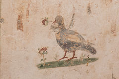 图画在大阳台议院,以弗所古城里 免版税库存照片